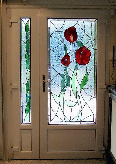 creation de vitraux vitrail pour vos portes fenetres atelier vitraux aristoloche vitrail. Black Bedroom Furniture Sets. Home Design Ideas