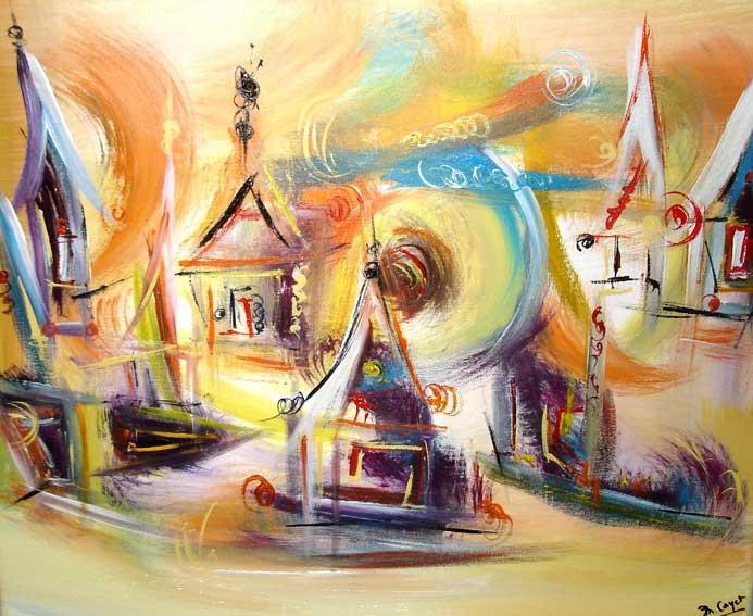 Peintures Oniriques Muriel Cayet Artiste Peintre